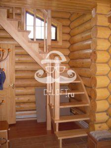 Деревянные лестницы из сосны на заказ